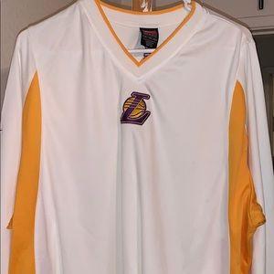 Nike Lakers warm up sweat top shirt